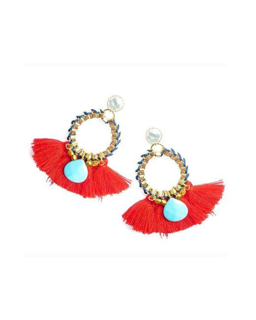 Clare Hynes   Red Martha Tassel Earrings   Lyst