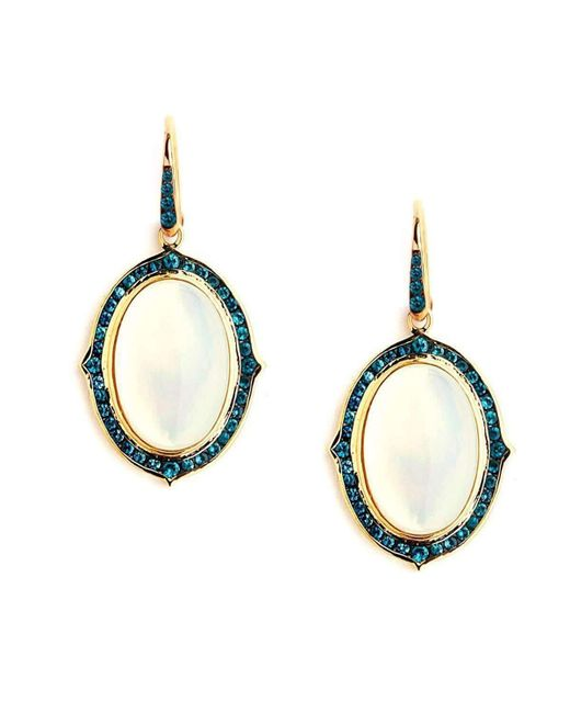 Syna 18kt Blue Topaz Bauble Earrings