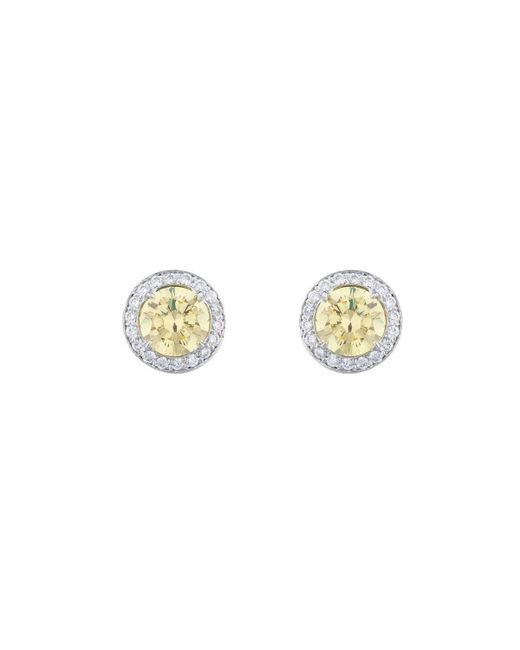 Fantasia by Deserio | Metallic Antique Canary Studs | Lyst