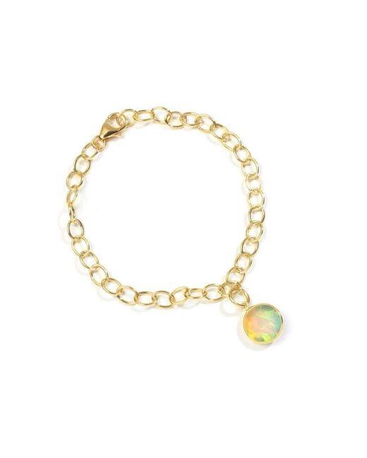 Syna - Metallic 18kt Ethiopian Opal Charm Bracelet - Lyst