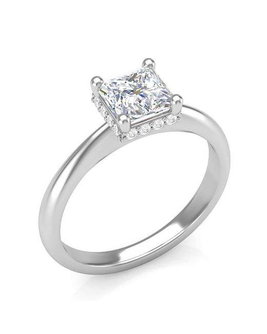Harry Kotlar Princess Cut Unity Ring - UK N - US 6 1/2 - EU 54 tZGaMp