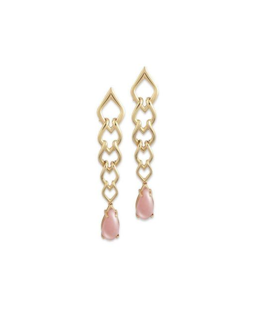 Chavin Couture - Metallic 18kt Yellow Gold Earrings With Pink Opal - Lyst