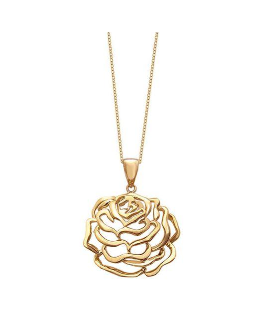 Fei Liu - Metallic Rose Medium Pendant Yellow Gold Finish - Lyst