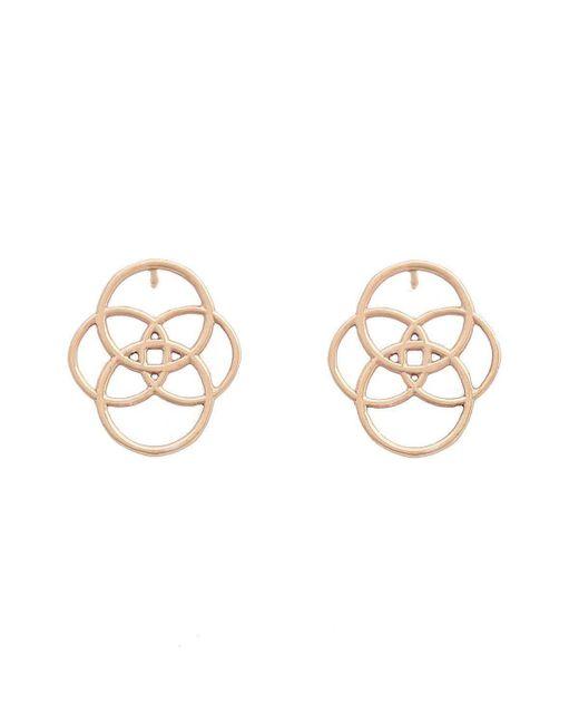 Uma K - Metallic Infinity Circle Earrings - Rose Gold - Lyst