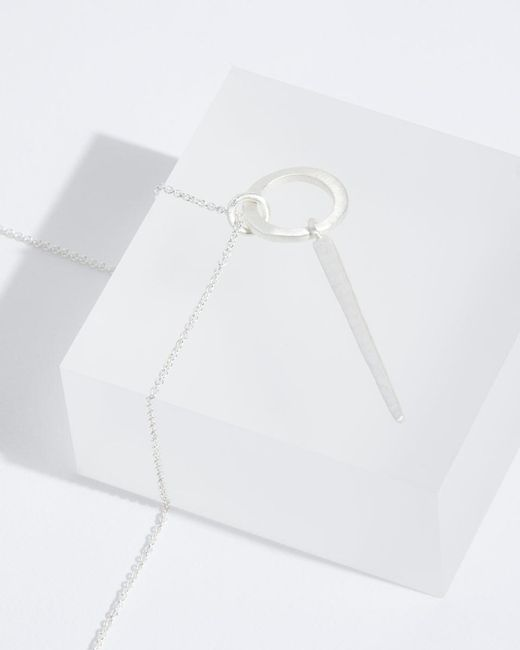 Jigsaw | Metallic Silver Pendant Necklace | Lyst