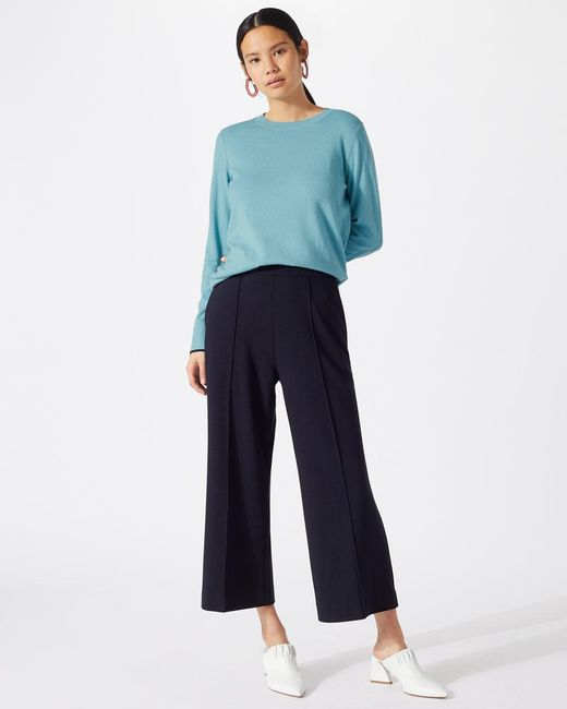Jigsaw - Blue Tipped Cotton Cashmere Crew - Lyst
