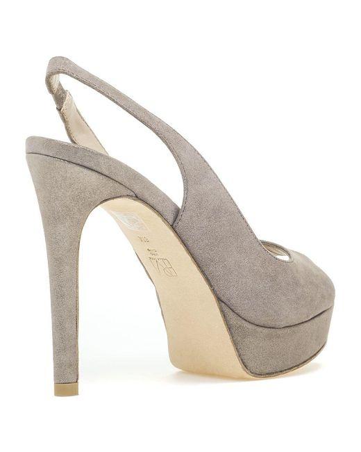 d36bf6b4904 ... Pelle Moda - Multicolor Oana Slingback Platform Sandal Taupe Shimmer  Suede - Lyst ...
