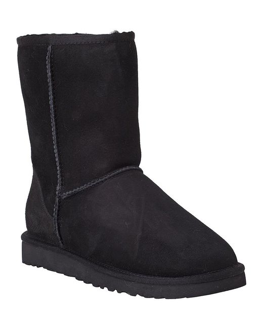 Ugg | Classic Short Boot Black Suede | Lyst