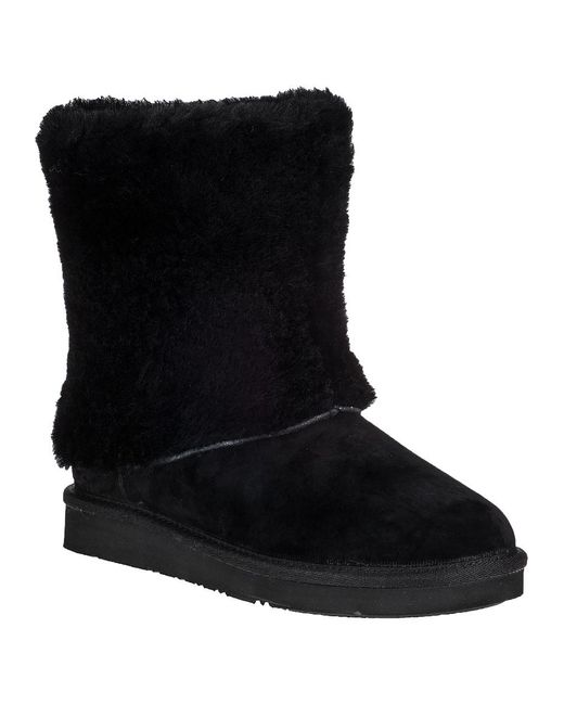Ugg   Patten Ankle Boot Black Suede   Lyst