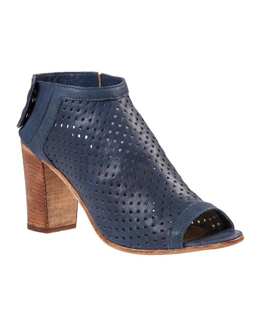 275 Central | Blue Perforated Bootie Navy Leather | Lyst
