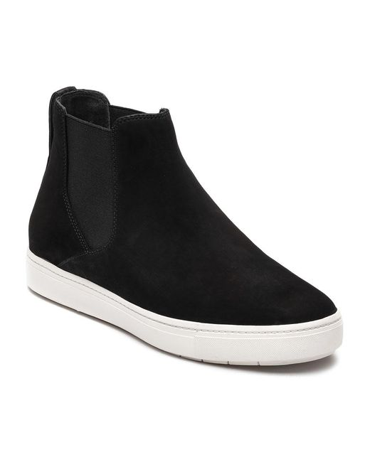 Vince   Black Newly Suede Pull-On Sneakers   Lyst