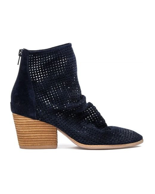 Jeffrey Campbell Jenelle Boot Navy Suede In Blue Lyst