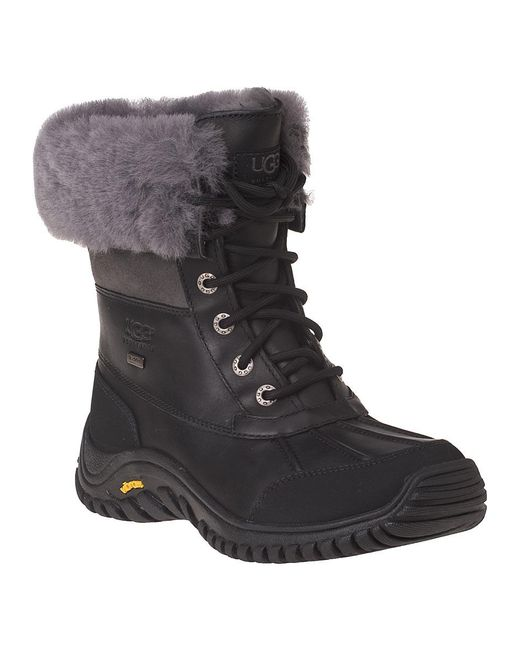 Ugg   Adirondack Ii Snow Boot Black Leather   Lyst
