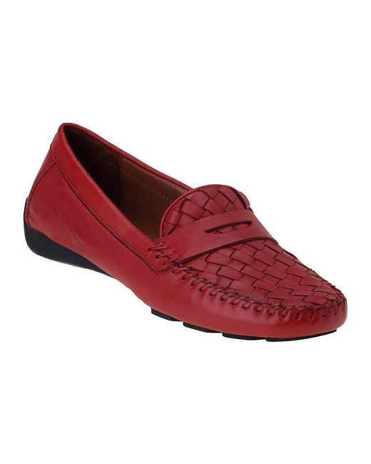 Robert Zur | Petra Penny Loafer French Red Leather | Lyst