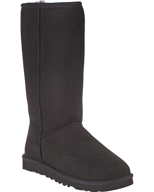 Ugg | Classic Tall Boot Black Suede | Lyst