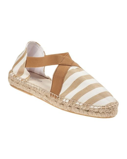 Sesto Meucci | Natural 9334 Flat Espadrille Camel Fabric | Lyst
