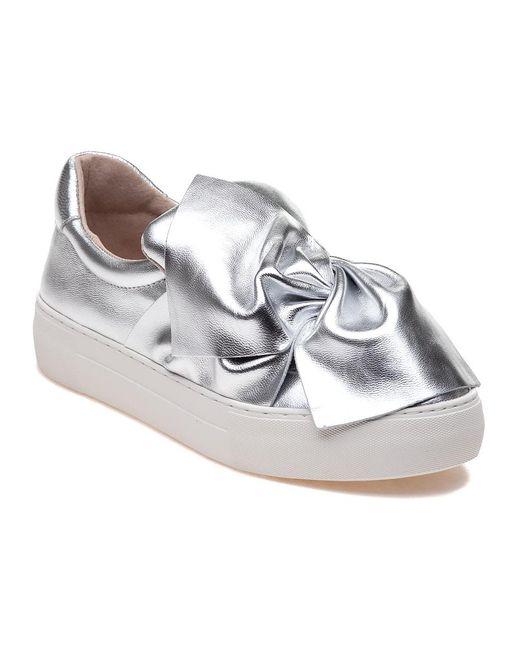 J/Slides | Annabelle Silver Metallic Leather Slip On | Lyst
