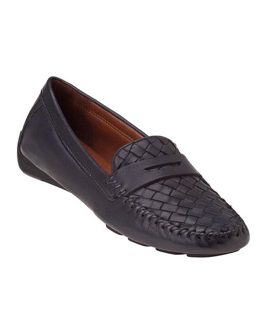 Robert Zur | Blue Petra Penny Loafer Navy Leather | Lyst