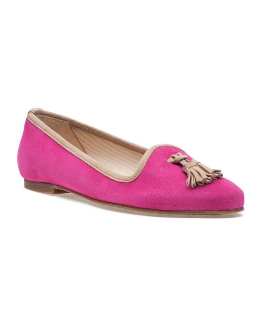 Jon Josef | Monelle Pink Suede Smoking Slipper | Lyst