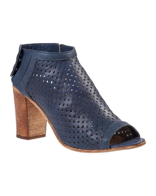 275 Central - Blue Perforated Bootie Navy Leather - Lyst