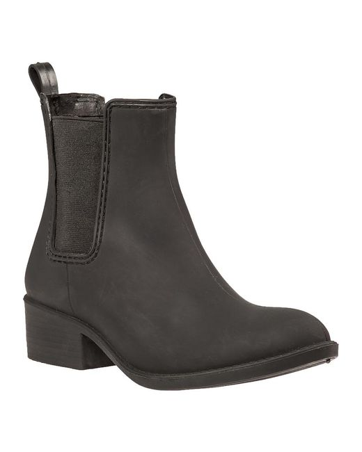 fb8f780f1573 Lyst - Jeffrey Campbell Stormy Runner Rubber Ankle Boots in Black ...