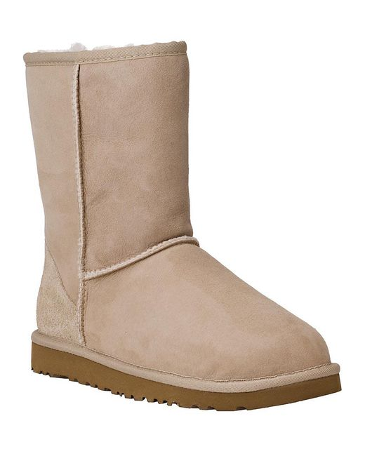 Ugg - Natural Classic Short Boot Sand Suede - Lyst