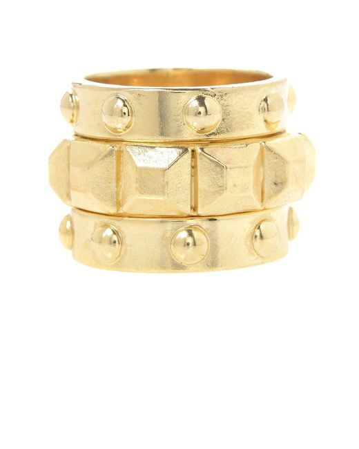 Jill Golden | Yellow Pyramid Stacking Rings | Lyst