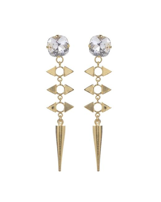 Jill Golden   Yellow Crystal Reflection Spike Earring   Lyst