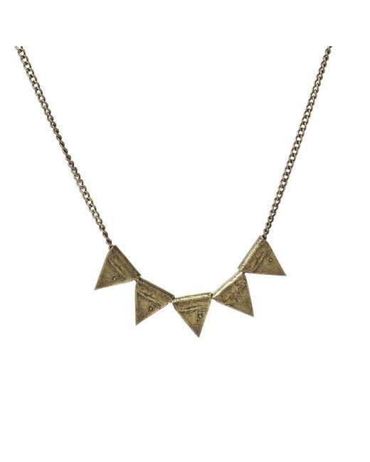 Jill Golden | Metallic Triangle Bead Necklace | Lyst