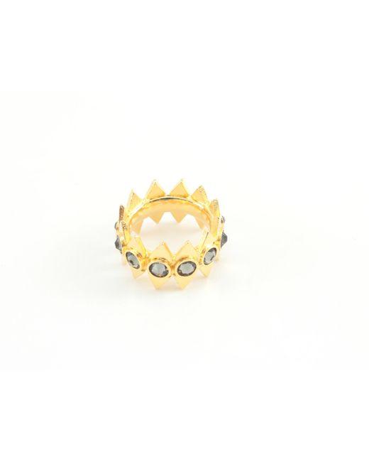 Jill Golden | Metallic Reflection Crystal Infinity Ring | Lyst