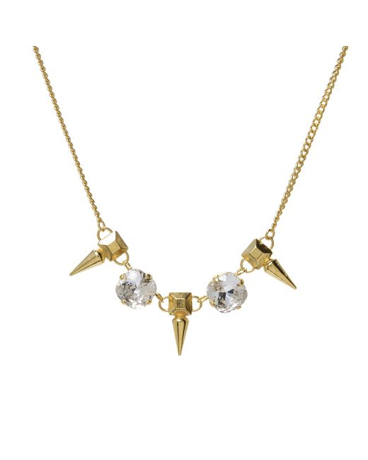 Jill Golden | Metallic Pyramid Spike Crystal Necklace | Lyst