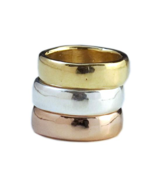 Jill Golden | Metallic Fusion Ring | Lyst
