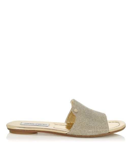 Jimmy Choo | Multicolor Nanda Glittered Canvas Slides | Lyst