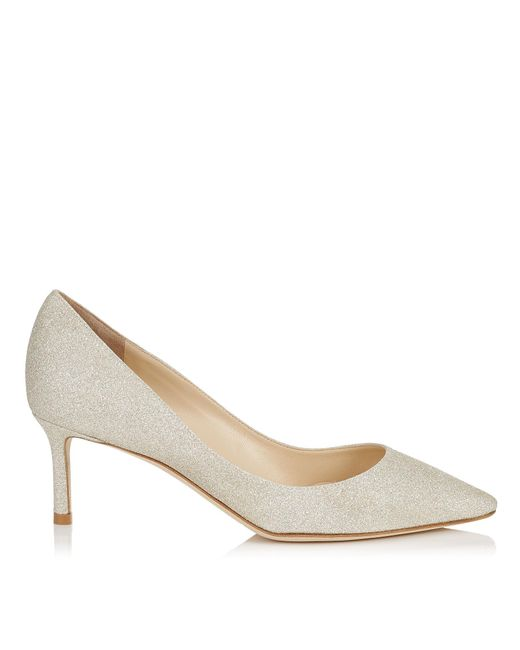 Jimmy Choo - Natural Romy Glitter Pointed-toe 60mm Pump - Lyst