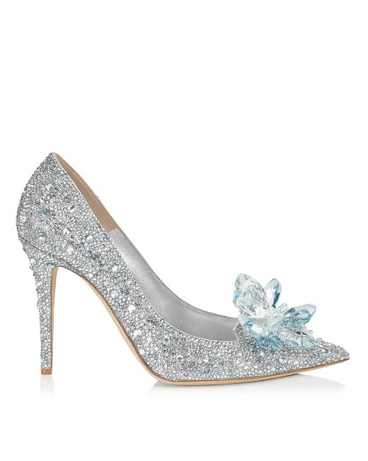 Jimmy Choo - Metallic Women's Avril 100 Crystal - Covered Pointy Toe Pumps - Lyst