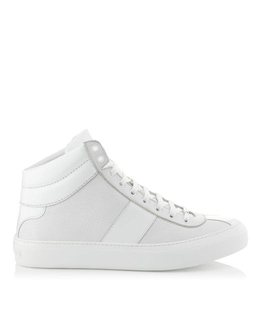 Jimmy Choo | Belgravia White Nappa And Patent High Top Trainers for Men | Lyst