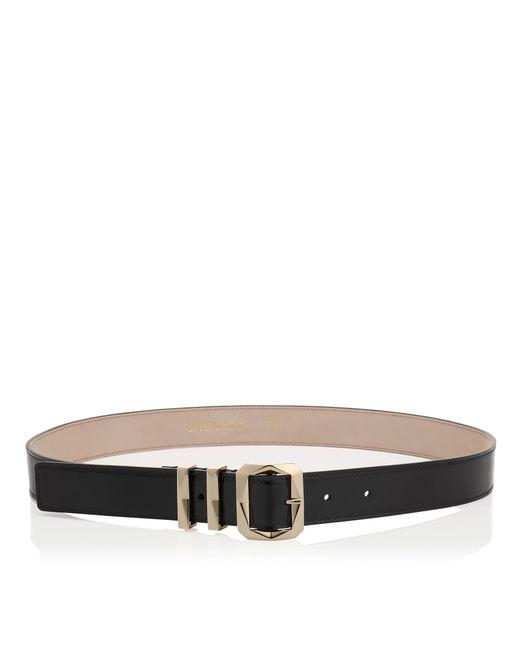 Jimmy Choo | Blitz Black Patent Leather Hip Belt | Lyst