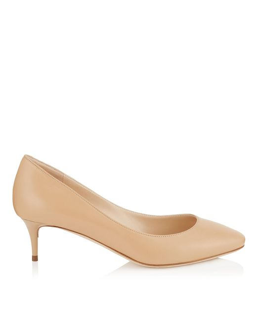 Jimmy Choo | Natural Romy 40 Nude Kid Leather Pointy Toe Pumps | Lyst