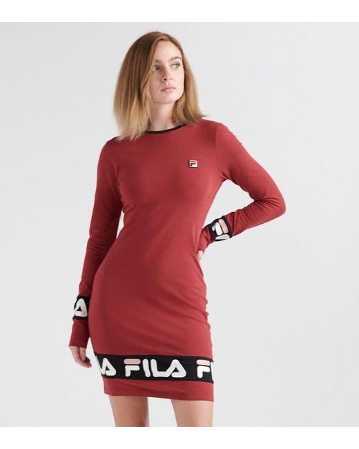 ae712b1c42ac Fila Luna Dress in Red - Save 57% - Lyst