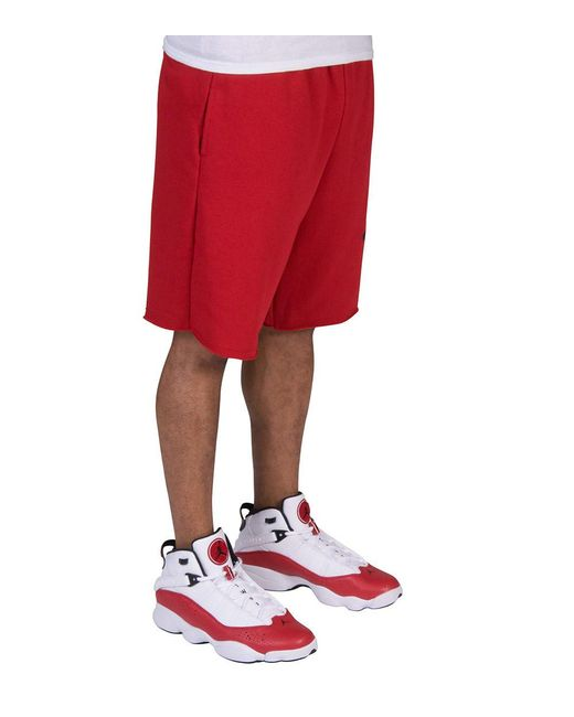 f4a89110888 ... Nike - Red Jumpman Air Fleece Shorts for Men - Lyst ...
