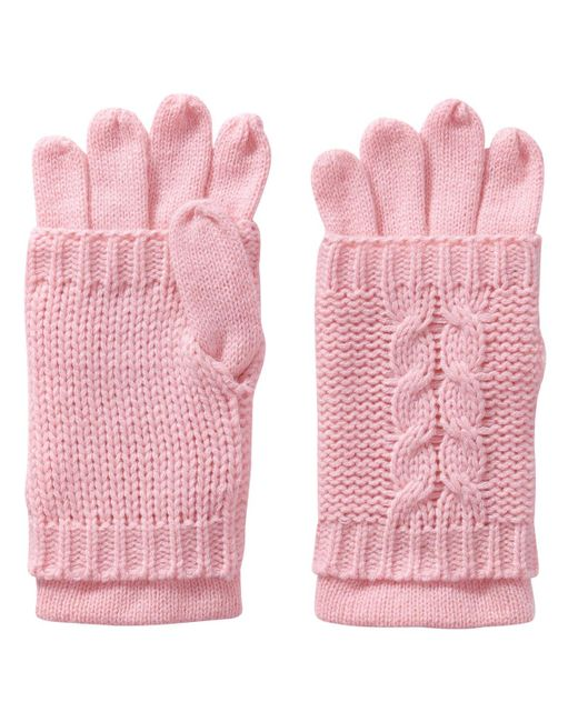 Joe Fresh | Pink Cable Knit Gloves | Lyst