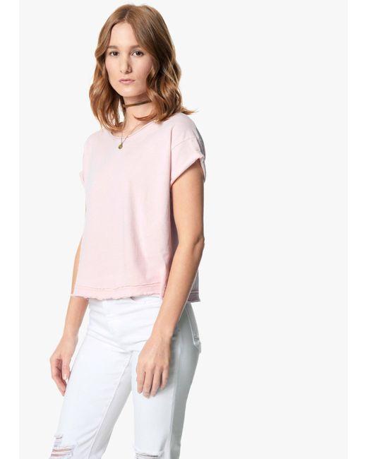 Joe's Jeans | Pink Hunter Crop Tee | Lyst