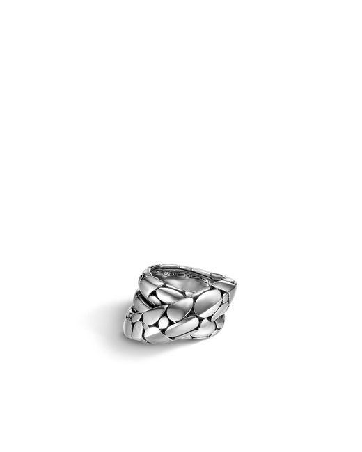 John Hardy | Metallic Overlap Ring | Lyst