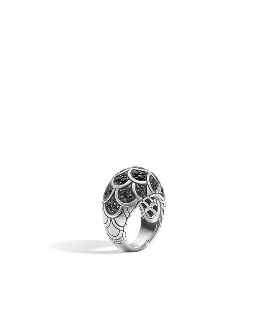 John Hardy | Naga Dome Ring With Black Sapphire | Lyst