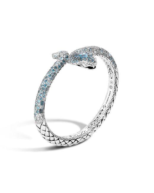John Hardy | Metallic Cobra Cuff Bracelet With London Blue Topaz | Lyst