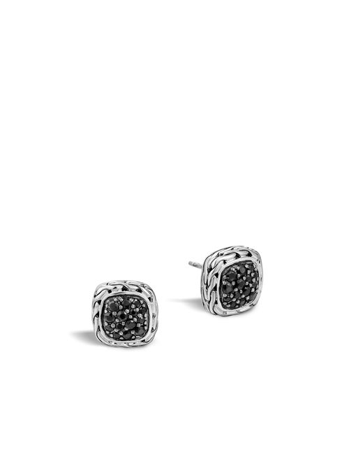 John Hardy | Metallic Classic Chain Stud Earring With Black Sapphire | Lyst