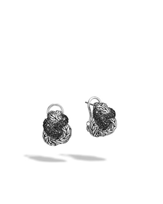John Hardy | Classic Chain Buddha Belly Earring With Black Sapphire | Lyst