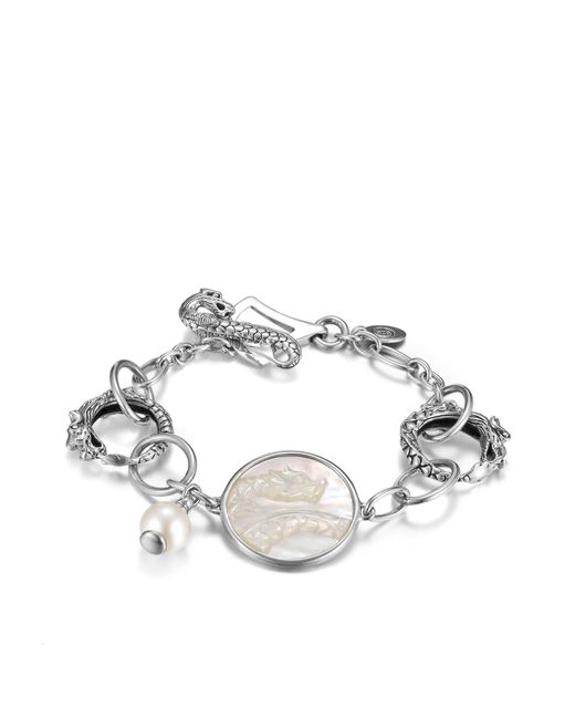 John Hardy | White Naga Link Bracelet With Pearl | Lyst