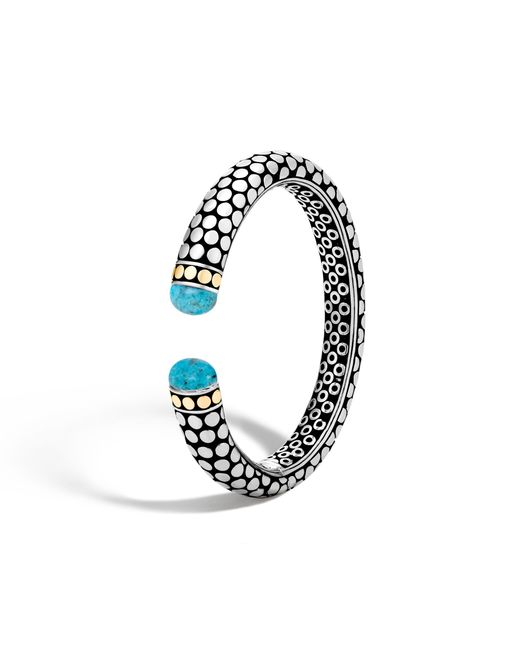John Hardy - Blue Kick Cuff With Turquoise - Lyst