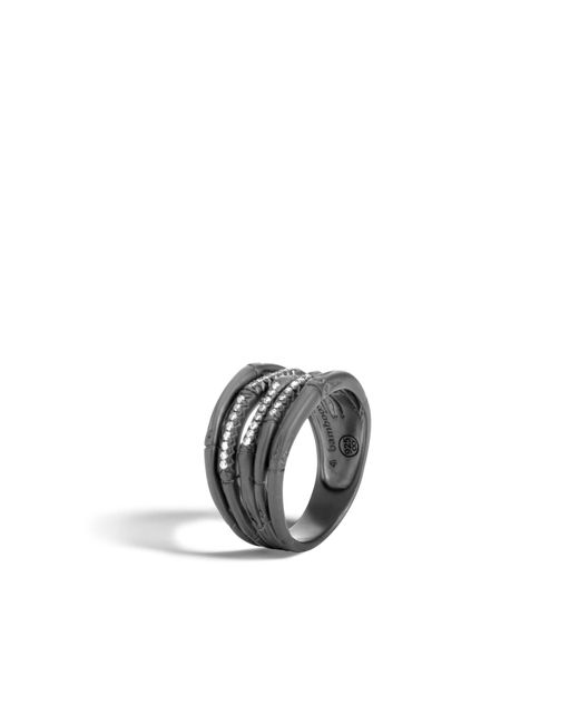 John Hardy   Multicolor Bamboo Ring With Diamonds   Lyst
